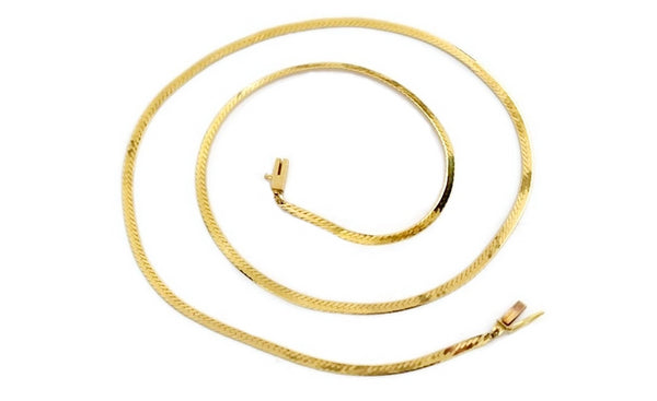 Vintage 14k Gold Herringbone Chain 20 inch - Premier Estate Gallery 1