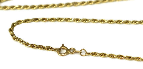 14k Gold Rope Chain 27 inch - Premier Estate Gallery