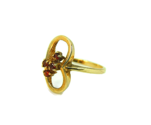 Mid Century Garnet Ring 10k Gold January Birthstone Ring - Premier Estate Gallery  - 2