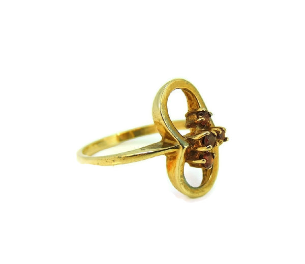 Mid Century Garnet Ring 10k Gold January Birthstone Ring - Premier Estate Gallery  - 3