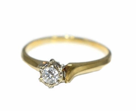 14k Diamond Ring Vintage Diamond Engagement - Premier Estate Gallery