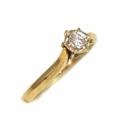 14k Diamond Ring Vintage Diamond Engagement Ring 14k Gold 1/3 Carat