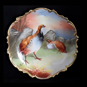 Antique Limoges Hand Painted Hunting Game Bird Plate Signed Roty EXCEPTIONAL - Premier Estate Gallery
