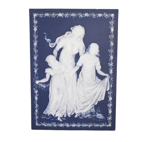 Vintage Blue and White Jasperware Mother's Day Plaque 1978