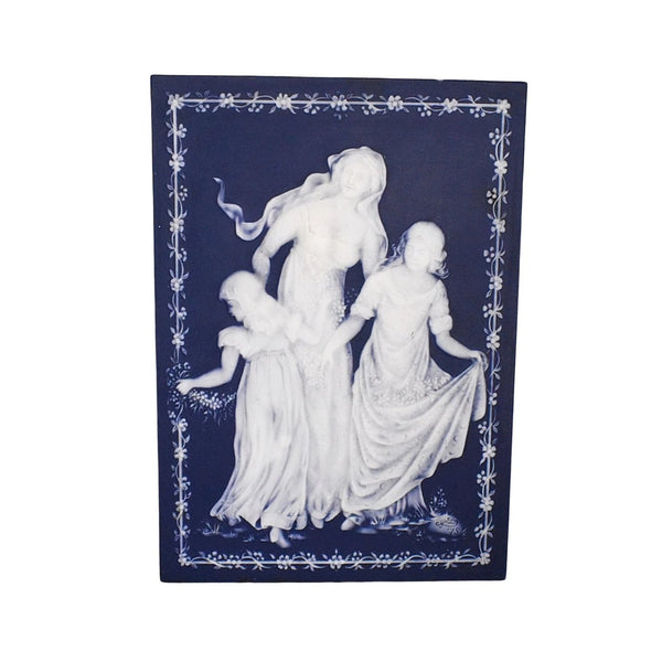 Vintage Blue and White Jasperware Mother's Day Plaque 1978 - Premier Estate Gallery 1