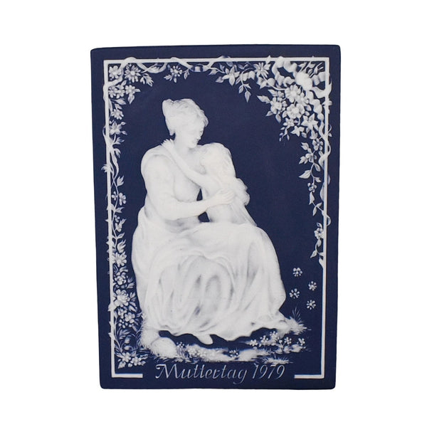 Villeroy and Bach Jasperware Mother's Day Plaque Cameo Relief Mettlach - Premier Estate Gallery