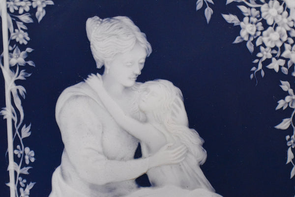 Villeroy and Bach Jasperware Mother's Day Plaque Cameo Relief Mettlach - Premier Estate Gallery 1