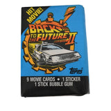 Back To The Future II Topps Movie Trading Cards Full Store Box with Display 36 Packs Unopened 1989