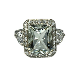 Estate 14k WG Aquamarine Engagement Ring  7.46 ct Main Stone - Premier Estate Gallery