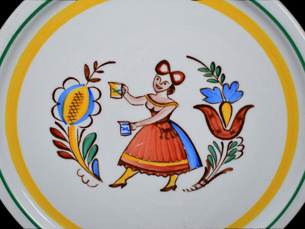Vintage Arabia of Finland Tea Tiles Trivet Set Gaudy Dutch Style c1960 Hand Painted - Premier Estate Gallery 3