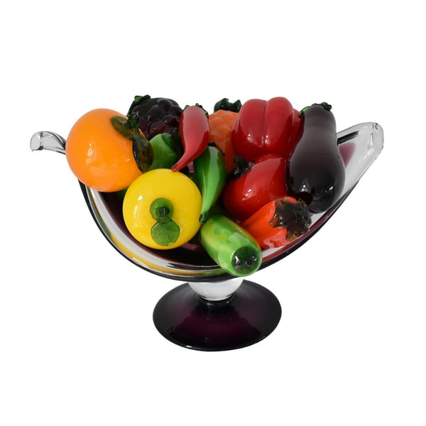 Vintage  Italian Hand Blown Glass Fruits Veggies featuring Pepper - Premier Estate Gallery 1