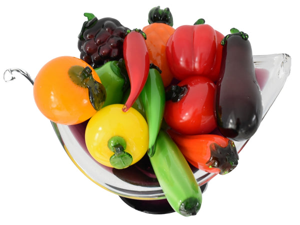 Vintage  Italian Hand Blown Glass Fruits Veggies featuring Pepper - Premier Estate Gallery