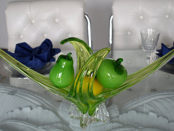 Vintage  Italian Hand Blown Glass Fruits Veggies featuring Peppers 12pcs