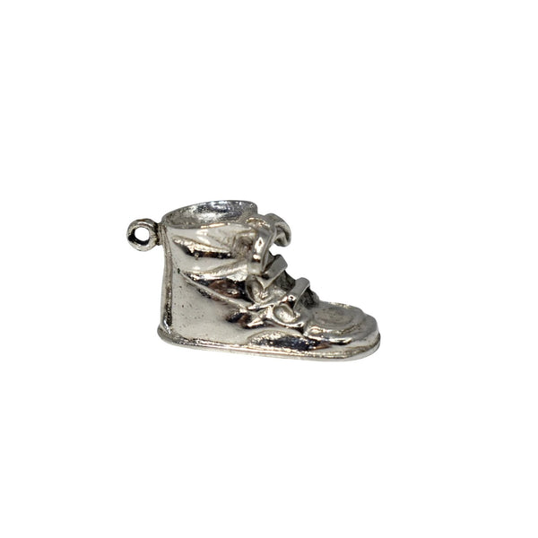 Vintage NOS Sterling Baby Shoe Charm by Wells Silver c1960 - Premier Estate Gallery 1