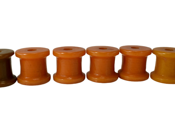 Set of Vintage Butterscotch Bakelite Barrel Beads Toggle Buttons c1930 - Premier Estate Gallery 3