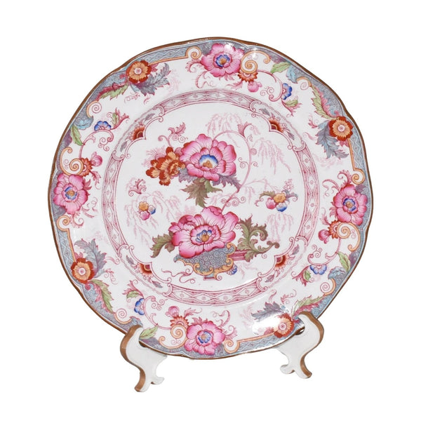 Cauldon Bentick Pink Blue Salad Plates Set of 3 Antique - Premier Estate Gallery 2