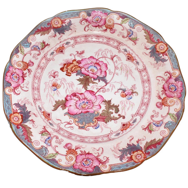 Cauldon Bentick Pink Blue Salad Plates Set of 3 Antique - Premier Estate Gallery 4