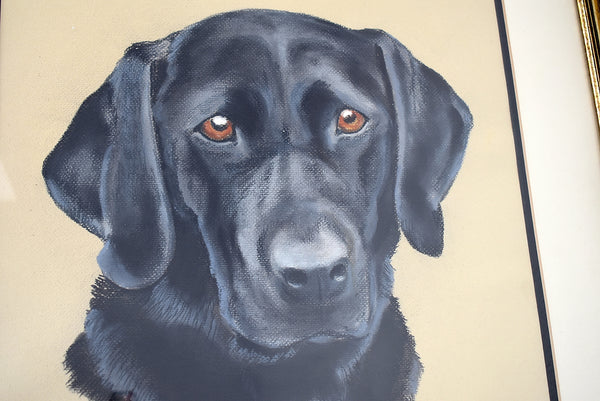 Estate Black Lab Labrador Watercolor Painting Framed - Premier Estate Gallery 3