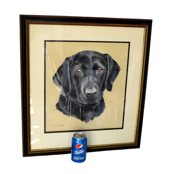 Estate Black Lab Labrador Watercolor Painting Framed - Premier Estate Gallery 4