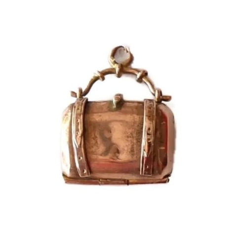 Victorian Rose Gold Satchel Doctor Bag Charm 12k - Premier Estate Gallery