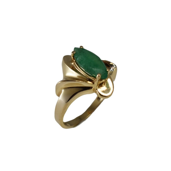 Estate 14k Gold Emerald Ring 1.02 carats, Vintage Emerald Engagement Ring 14k Gold - Premier Estate Gallery 3