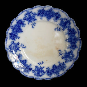 Antique Flow Blue Grindley Clarence Dinner Plate Blue and White w Raised Decoration - Premier Estate Gallery 1