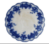 Antique Flow Blue Grindley Clarence Dinner Plate Blue and White w Raised Decoration - Premier Estate Gallery 3
