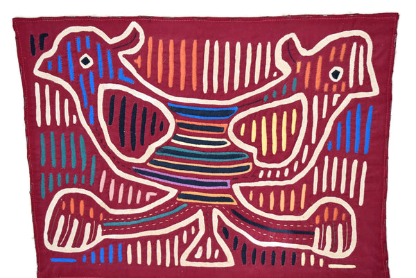 1920s Mola Kuna Applique Textile Art Panama Indians Hand Stitched Folk Art - Premier Estate Gallery 1