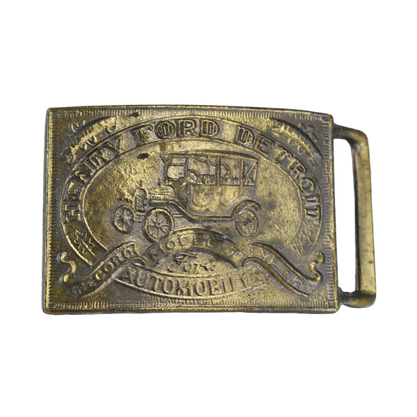 Vintage Ford Model T Belt Buckle NOS Big 3 inch - Premier Estate Gallery