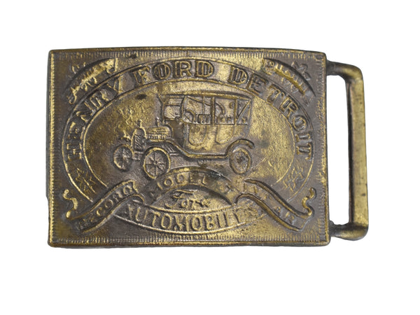 Vintage Ford Model T Belt Buckle NOS Big 3 inch - Premier Estate Gallery 1