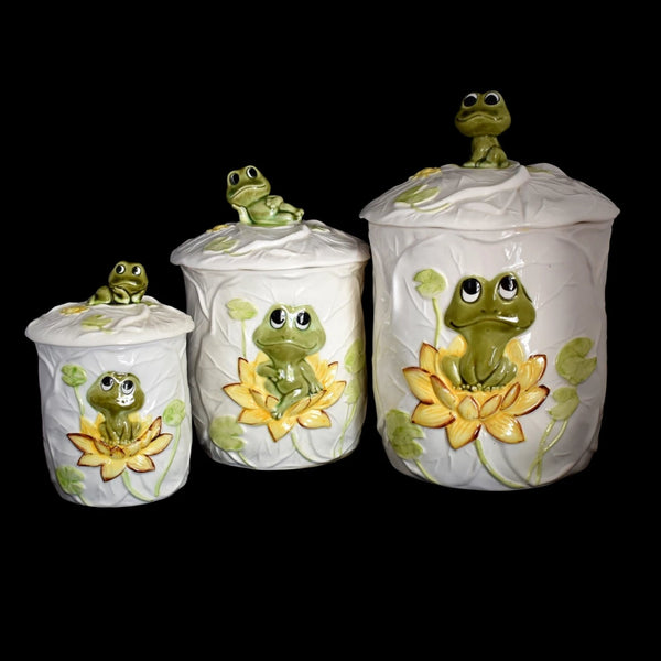 Neil the Frog Canister Set 1978 Sears Roebuck 3 pcs - Premier Estate Gallery