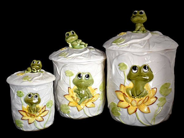 Neil the Frog Canister Set 1978 Sears Roebuck 3 pcs - Premier Estate Gallery 2