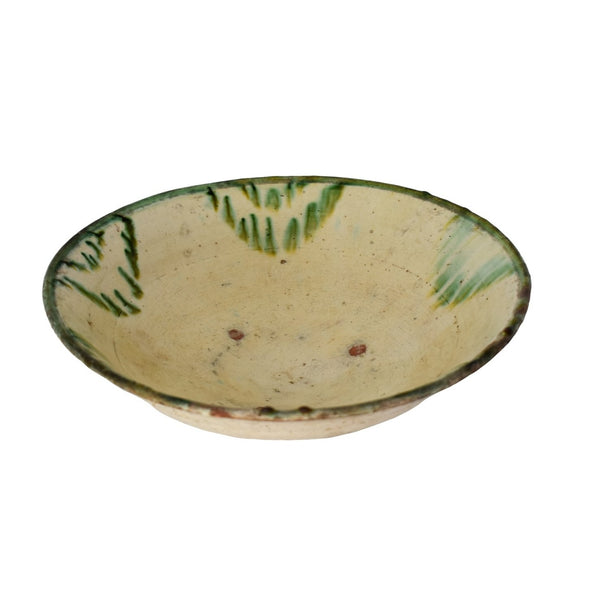 Antique Green Drip Polychrome Earthenware Bowl Large - Premier Estate Gallery 2