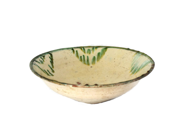 Antique Green Drip Polychrome Earthenware Bowl Large - Premier Estate Gallery 3