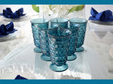 Vintage Colony Glass Whitehall Riviera Blue Iced Tea Tumblers 12oz - Premier Estate Gallery 1