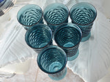 Vintage Colony Glass Whitehall Riviera Blue Iced Tea Tumblers 12oz