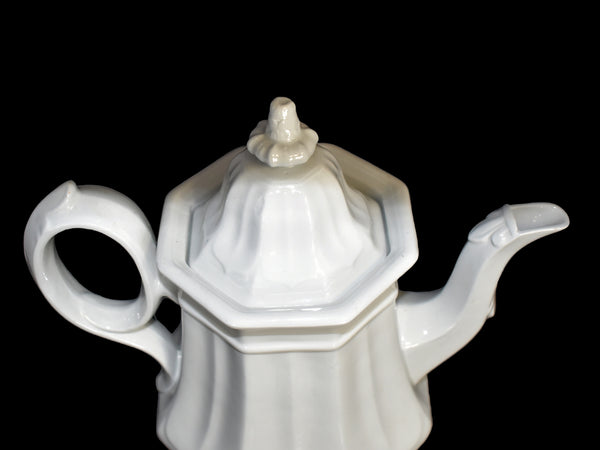 White Ironstone Teapot Coffee Pot French Country Decor TR Boote Staffordshire - Premier Estate Gallery 3