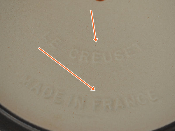 Vintage Le Creuset France Orange Flame Enamel Dutch Oven B 2 Quart
