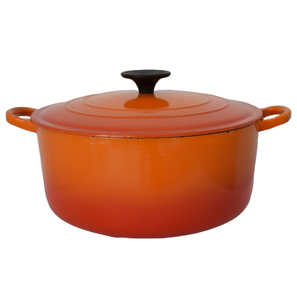 Le Creuset Orange Flame Enamel Cast Iron Dutch Oven 4.5 Quart - Premier Estate Gallery  1