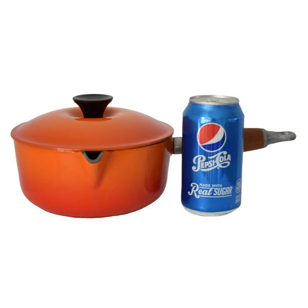 Le Creuset Vintage Saucepan Flame No. 18 with Lid 2 Quart - Premier Estate Gallery 2