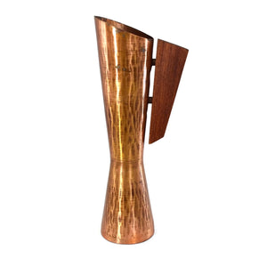 Mid Century Modern Hammered Copper Ewer with Teak Handle MCM - Premier Estate Gallery
