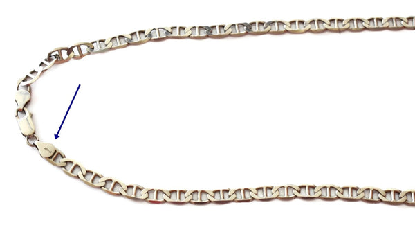 Estate Sterling Silver Mariner Link Men's Chain 25.7g 24 Inch