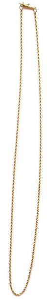 "Diamond Cut 14k Gold 1.5 mm Rope Chain 18"" Vintage - Premier Estate Gallery"