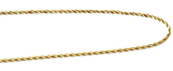 "Diamond Cut 14k Gold 1.5 mm Rope Chain 18"" Vintage"