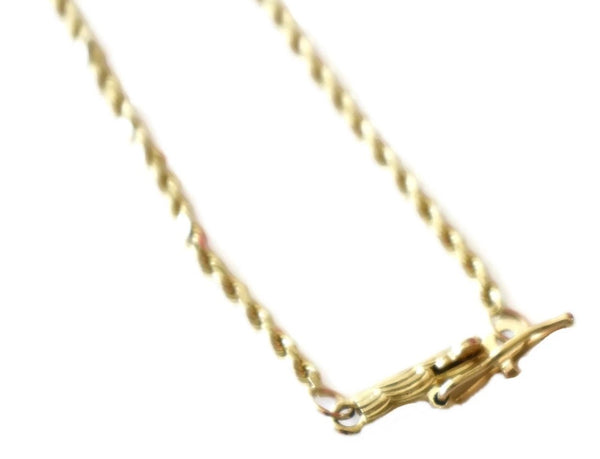 "Diamond Cut 14k Gold 1.5 mm Rope Chain 18"" Vintage - Premier Estate Gallery 2"