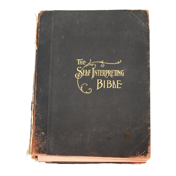 Antique Religious Books The Self Interpreting Bible 4 Volumes 1905 - Premier Estate Gallery