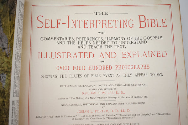 Antique Religious Books The Self Interpreting Bible 4 Volumes 1905