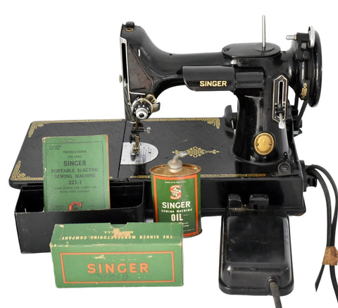 Singer Featherweight 221 with Accessories Excellent Working Condition - Premier Estate Gallery