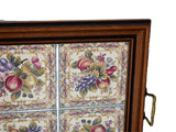 Large Victorian Style English Tea Tray Tilecrafts Staffordshire Fruit Tiles - Premier Estate Gallery 2