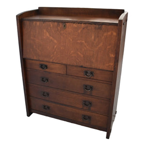 Gustav Stickley Drop Front Desk 729 Antique Mission Craftsman Era c1910 - Premier Estate Gallery